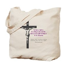 Chesterton and Doing Right Tote Bag