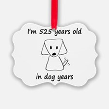 75 dog years 6 - 2 Ornament