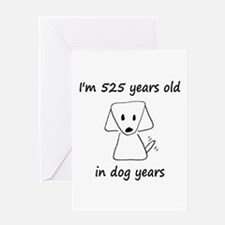 75 dog years 6 - 2 Greeting Cards