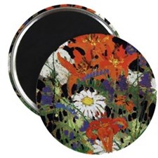 Thomson - Marguerites, Wood Lilies and Vetc Magnet