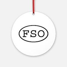 FSO Oval Ornament (Round)