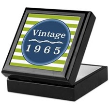 Vintage 1965 Striped Keepsake Box