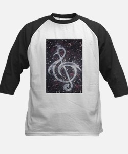 Abstract Treble Clef Baseball Jersey