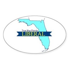 True Blue Florida LIBERAL Oval Decal
