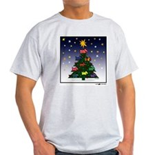 SCOTTIE CHRISTMAS TREE Ash Grey T-Shirt