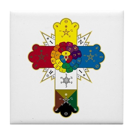 Hermetic Rose Cross - Tile Coaster