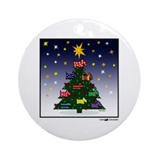 SCOTTIE CHRISTMAS TREE Ornament (Round)