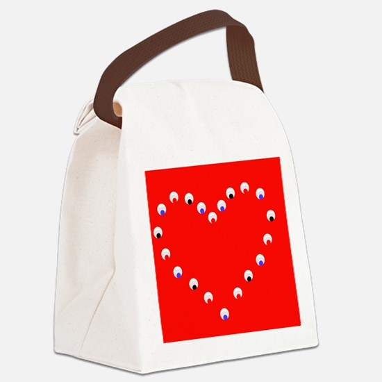 Red Jojo's Heart Valentine 581 Canvas Lunch Bag