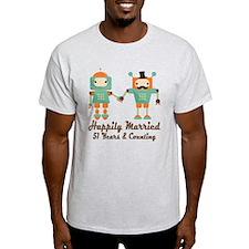 51st Anniversary Vintage Robot Coupl T-Shirt