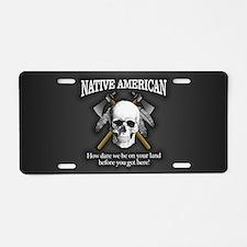 Native American (skull) Aluminum License Plate