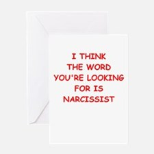 narcissist Greeting Cards