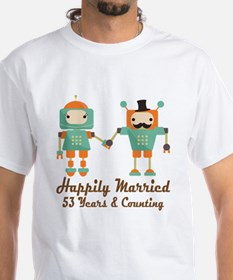 53rd Anniversary Vintage Robot Coupl Shirt