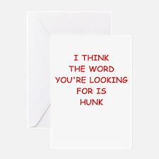 hunk Greeting Cards