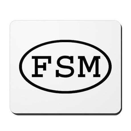 FSM Oval Mousepad