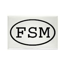 FSM Oval Rectangle Magnet