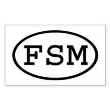 FSM Oval Rectangle Decal