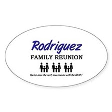 Rodriguez Family Reunion Oval Decal