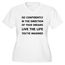 Go Confidently Plus Size T-Shirt