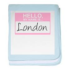 Cute London baby blanket