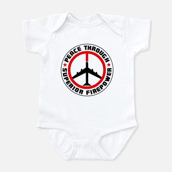 Peace Through Superior Firepower II Infant Bodysui