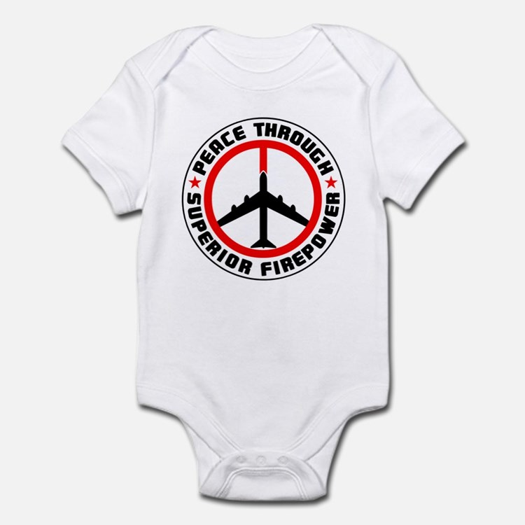 Peace Through Superior Firepower II Infant Bodysui