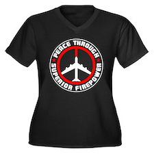 Peace Through Superior Firepower II Women's Plus S