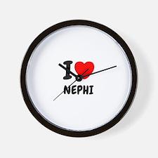 I heart Nephi Wall Clock