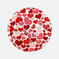 """Abstract Red and Pink Heart 3.5"""" Button (100 pack)"""