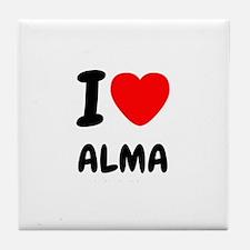 I heart Alma Tile Coaster