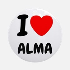I heart Alma Ornament (Round)