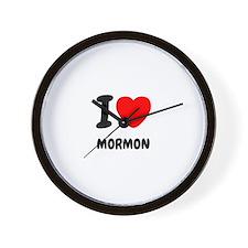I heart Mormon Wall Clock