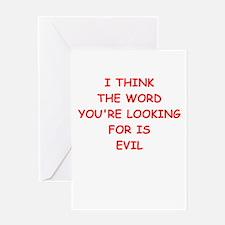 evil Greeting Cards