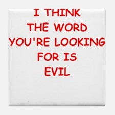 evil Tile Coaster