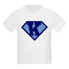 Super Hero Letter K T-Shirt