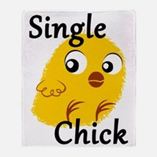 Single Chick Throw Blanket