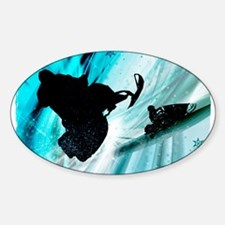 Snowmobiling on Icy Trails 2 Decal