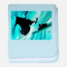 Snowmobiling on Icy Trails 2.png baby blanket