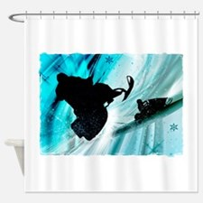Snowmobiling on Icy Trails 2.png Shower Curtain