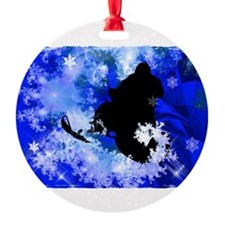 Snowmobiling in the Avalanche Edges Ornament