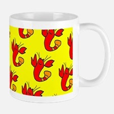 Yellow Red Cute Lobster Dance Designer Mugs