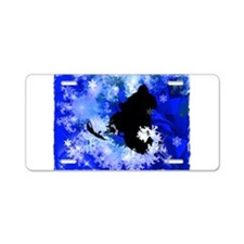 Snowmobiling in the Avalanc Aluminum License Plate