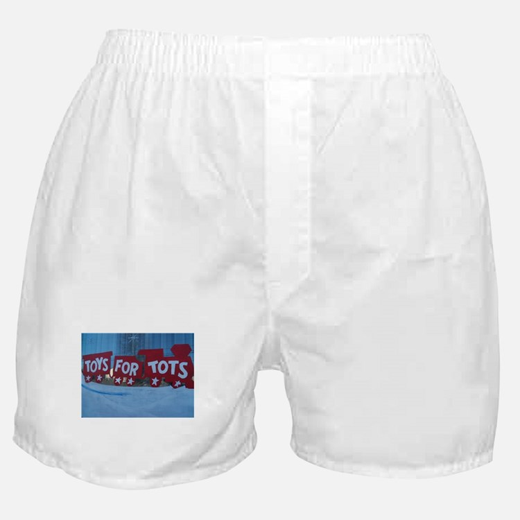 Toys For Tots Train. Boxer Shorts