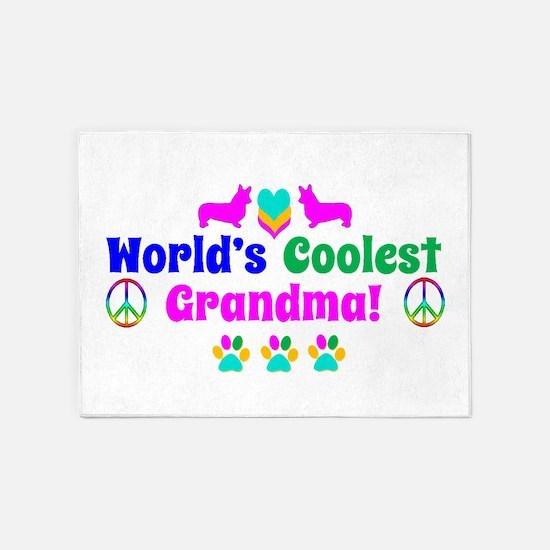World's Coolest Grandma 5'x7'Area Rug