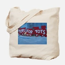Toys For Tots Train. Tote Bag