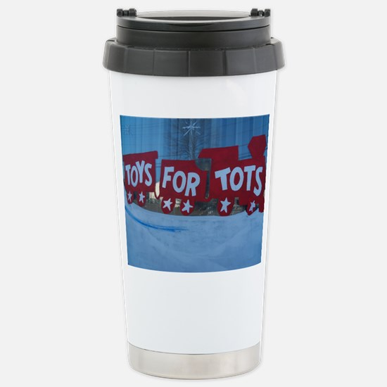 Toys For Tots Train. Travel Mug