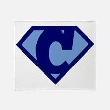 Super Hero Letter C Throw Blanket