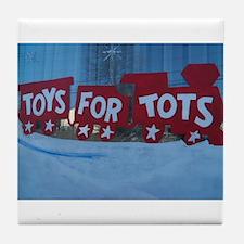 Toys For Tots Train. Tile Coaster