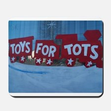 Toys For Tots Train. Mousepad