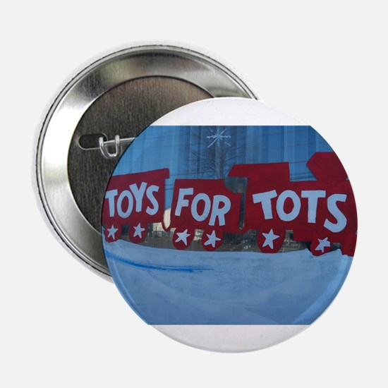 """Toys For Tots Train. 2.25"""" Button (10 Pack)"""