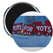 Toys For Tots Train. Magnets